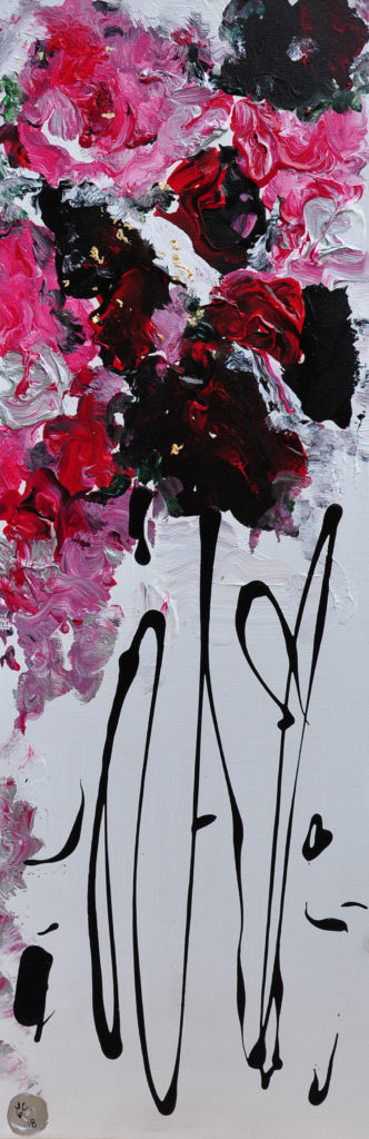 "I have loved you for a 1000 years 36""x 10"" - SOLD"